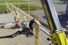 medinių konstrukcijų surinkimas