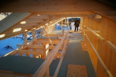 Medinės konstrukcijos stogas